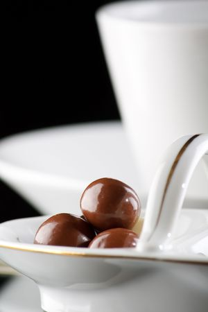 coffee and chocolate drops Stock Photo - 6330815