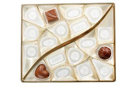 fancy sweet box: chocolate dessert
