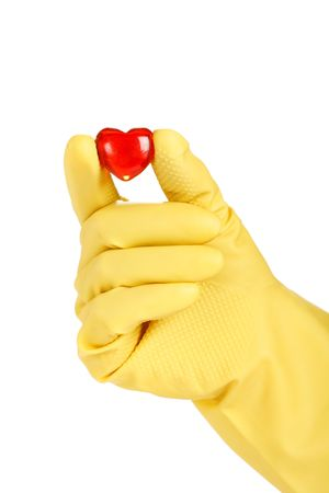 doctor holding gift: Heart in the hand