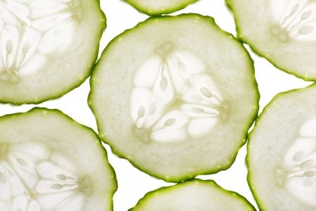 Cucumber on the white background. Stock Photo - 6385609