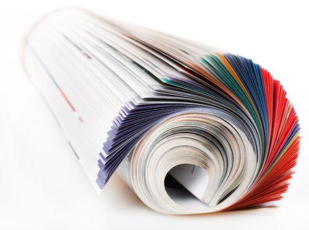 reading magazine: Magazine Stock Photo