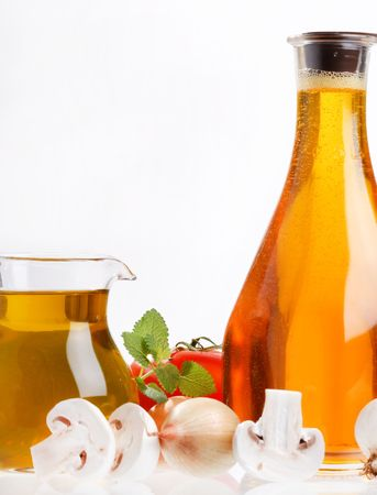 Olive oil and vegetables  photo