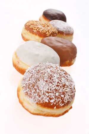donuts isolated on the white photo