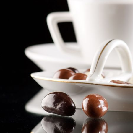 coffee and chocolate drops Stock Photo - 6729530