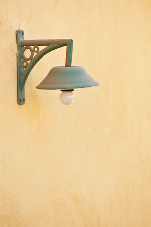 iron lamp on the wall photo