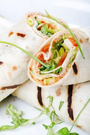 tortilla wrap: Tortilla Wrap Cut in Half