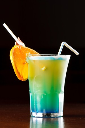 happyhour: Summer drink decorated with a slice of orange