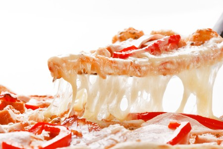 slice tomato: Italian pizza Stock Photo