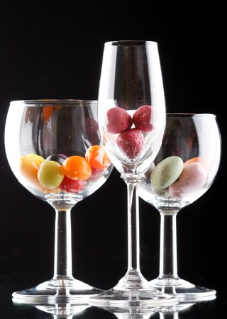 sweets on glass  photo
