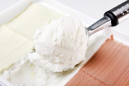 Ice cream closeup  photo