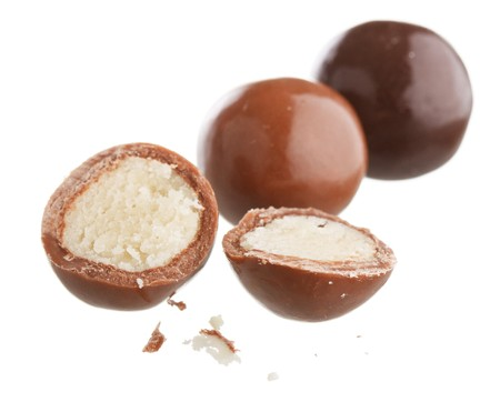 marzipan in the chocolate  photo