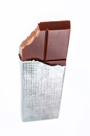 chocolate in a foil photo