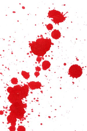 blood stain: Ink splashes  Stock Photo