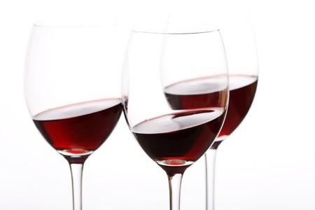 tannin: glasses of red wine Stock Photo