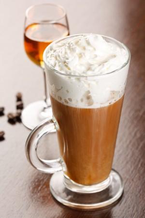 amaretto: coffee with amaretto Stock Photo