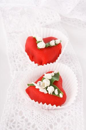 Heart dessert  photo