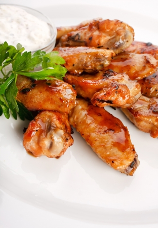 Chicken wings with sauce Stock Photo - 7266051