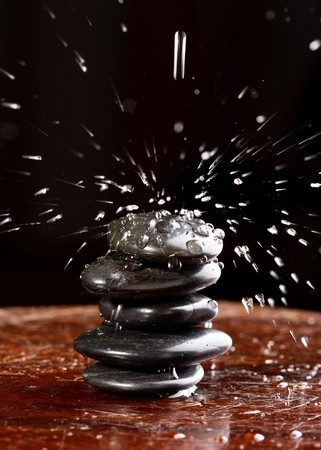 zen stones with water drops Stock Photo - 7378704