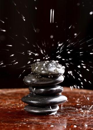 zen stones with water drops Stock Photo - 7378704