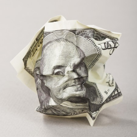 Crumpled american money  Stock Photo - 7487790