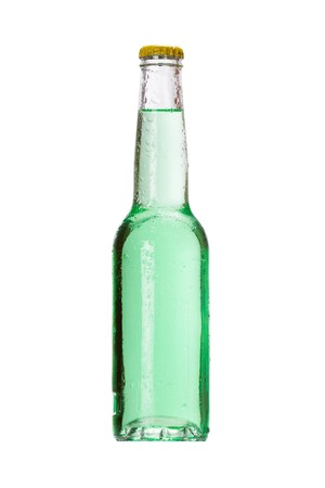 drinking soda: bottle with tasty drink