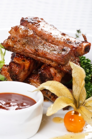 spare ribs: grilled ribs
