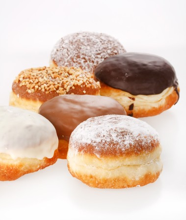donuts on the white background photo