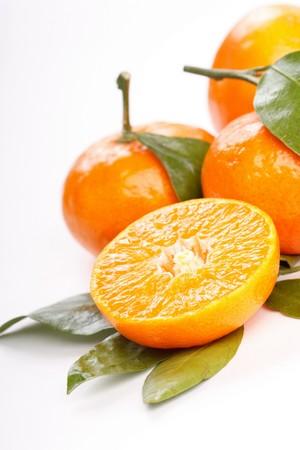 fresh mandarin fruits  photo