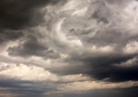 torrential: stormy clouds  Stock Photo