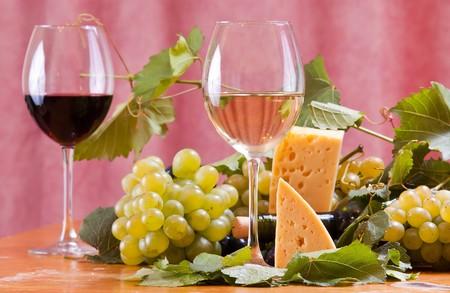 still life of wine: Wine composition  Stock Photo