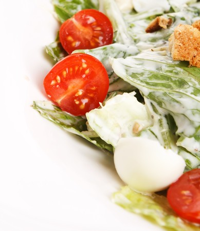 Vegetable salad with chicken  photo