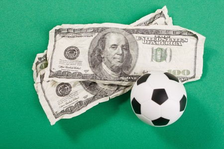 football and dollars photo