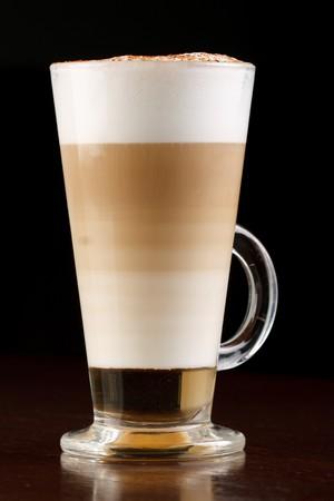 Kaffee Latte in einem Glas
