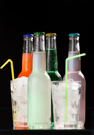 bottles with tasty drink  Stock Photo - 7620683