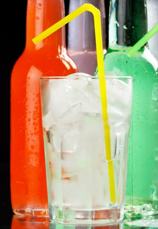 bottles with tasty drink  Stock Photo - 7620569