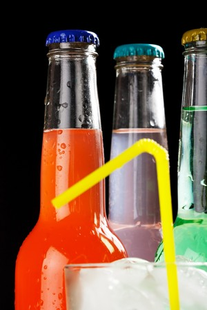 bottles with tasty drink Stock Photo - 7620630