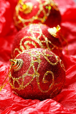 Red Christmas balls Stock Photo - 7888364