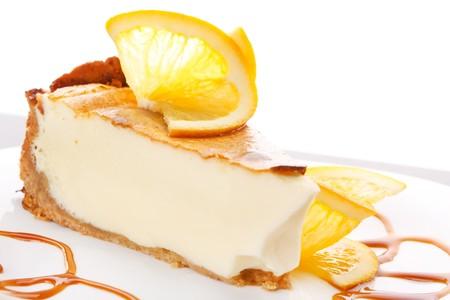 orange cheesecake photo