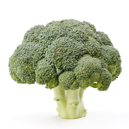 produces: Fresh Raw Green Broccoli Stock Photo