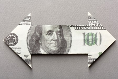 Dollar Bill Arrow  photo