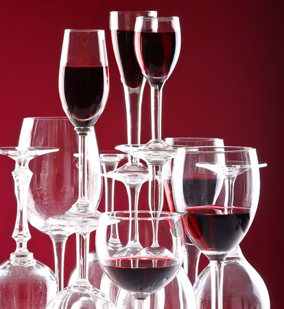 Wine glasses  photo