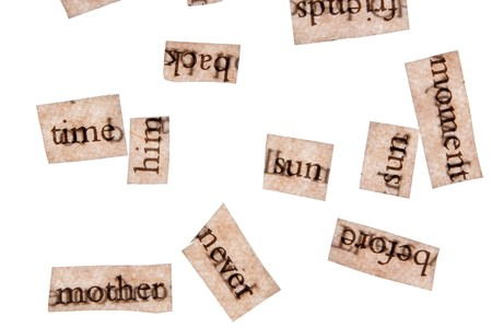 Word Clippings from Books Stock Photo - 7888798