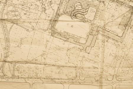 dibujo tecnico: plan antiguo de la ciudad
