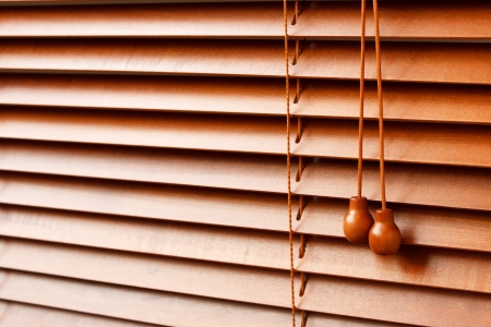 wood blinds: Wood Blinds  Stock Photo