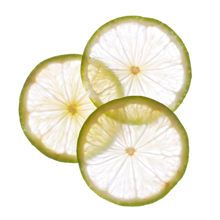 cross cut: fresh lime Stock Photo