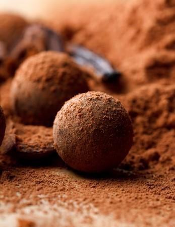 ganache: chocolate truffle