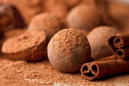 トリュフ チョコレート 写真素材
