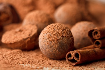 chocolate truffle: chocolate truffle