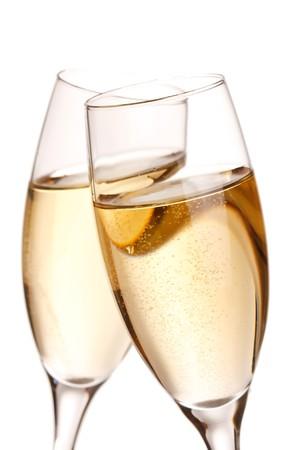 coupe de champagne: fl�tes de champagne  Banque d'images
