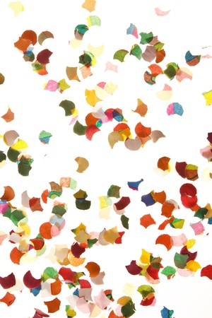 confetti on white background  photo